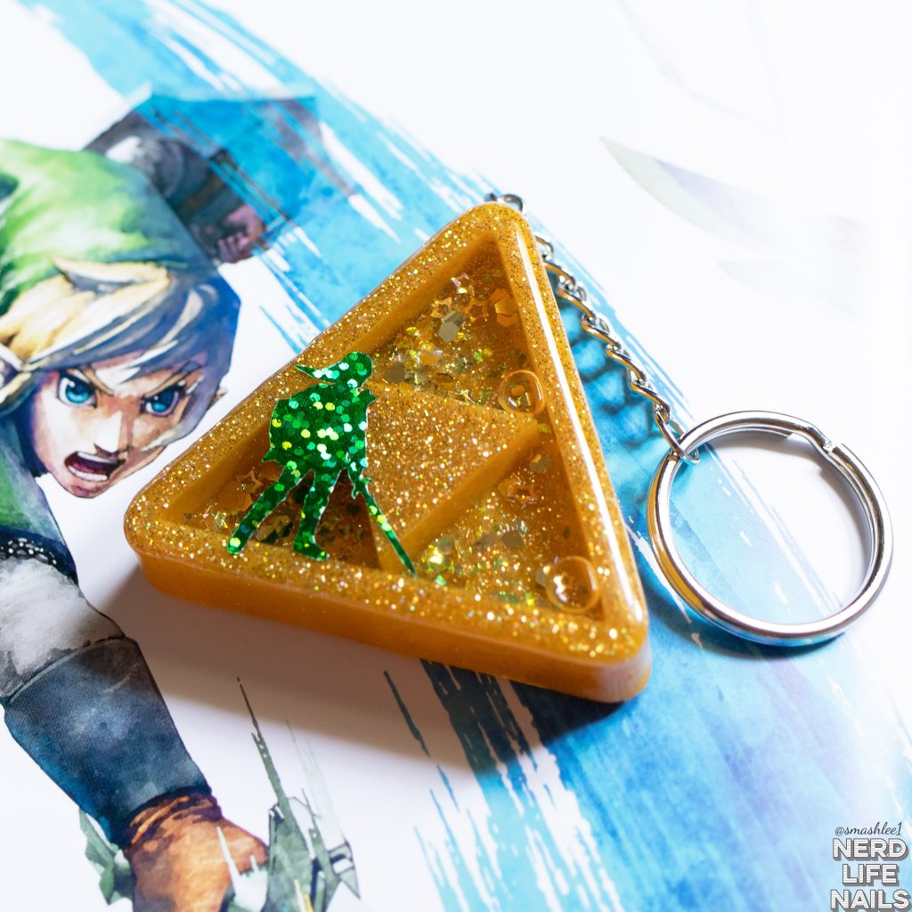 Sassy Shark Charms Triforce Keychain