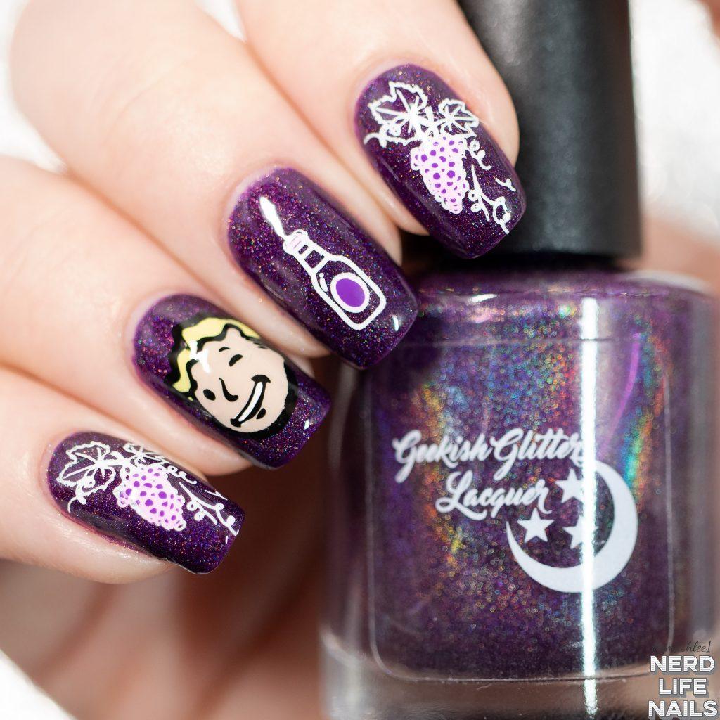 Nuka Grape Nail Art