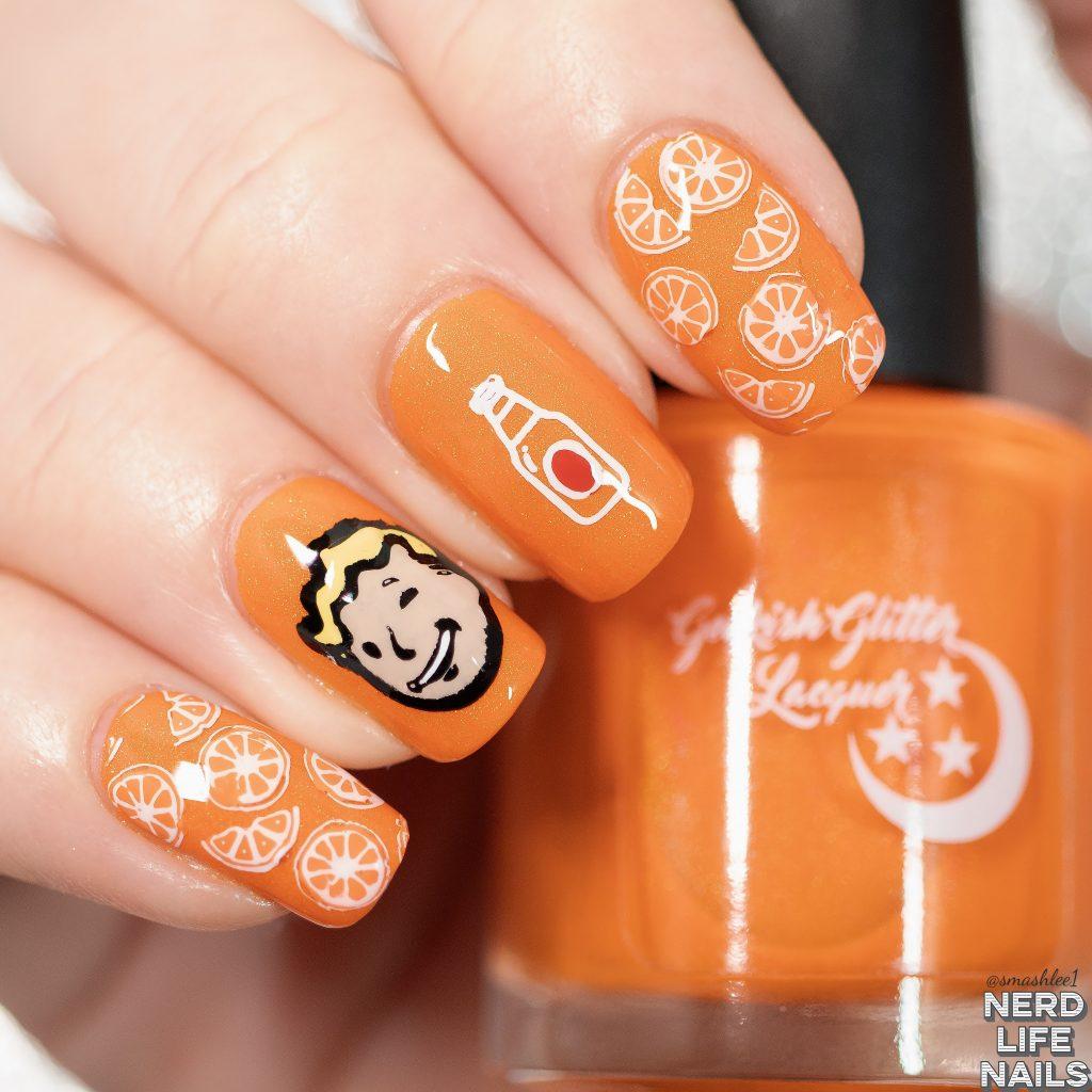 Nuka Orange Nail Art