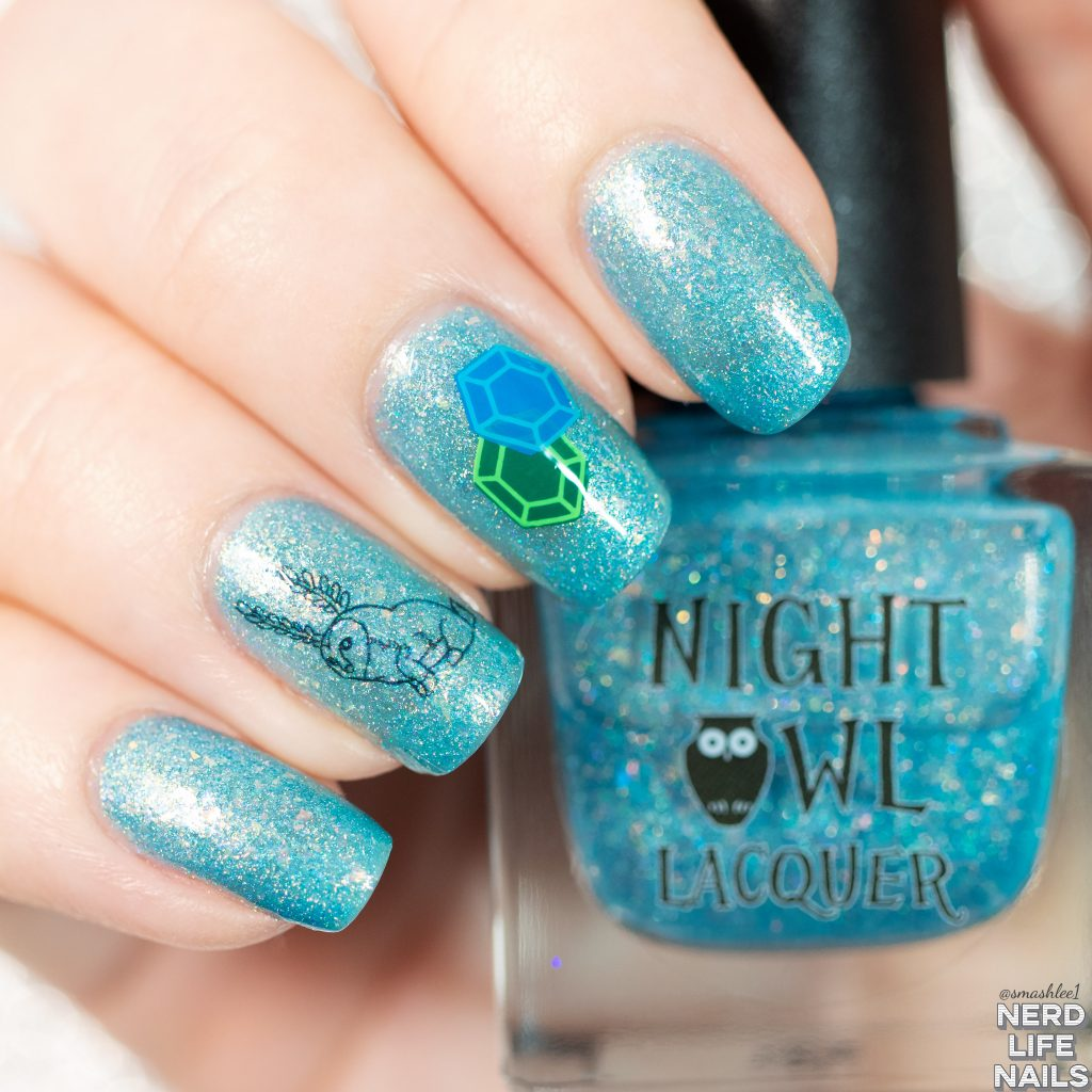 Night Owl Lacquer - Blupee Nail Art