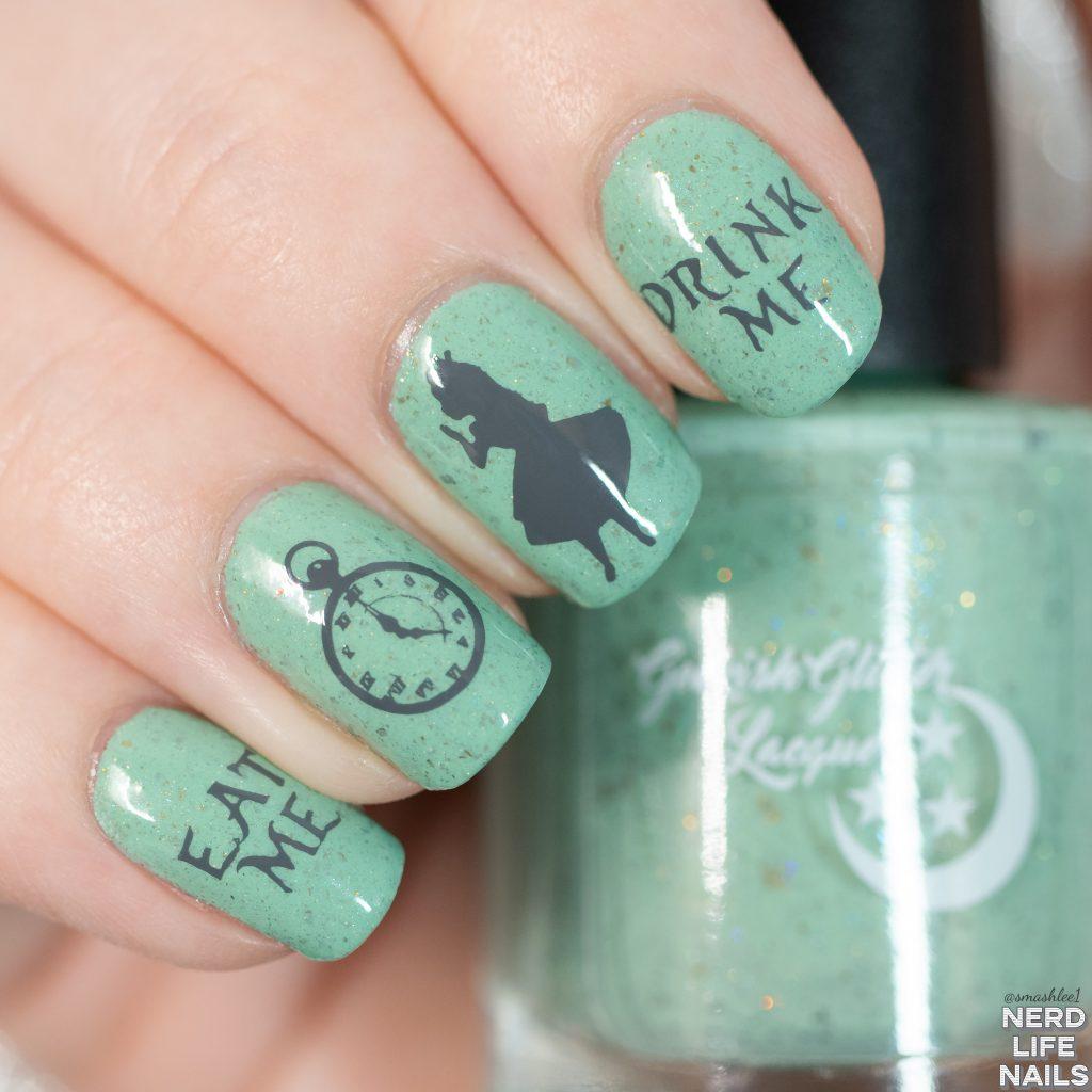Geekish Glitter Lacquer - Muchness Mint Nail Art