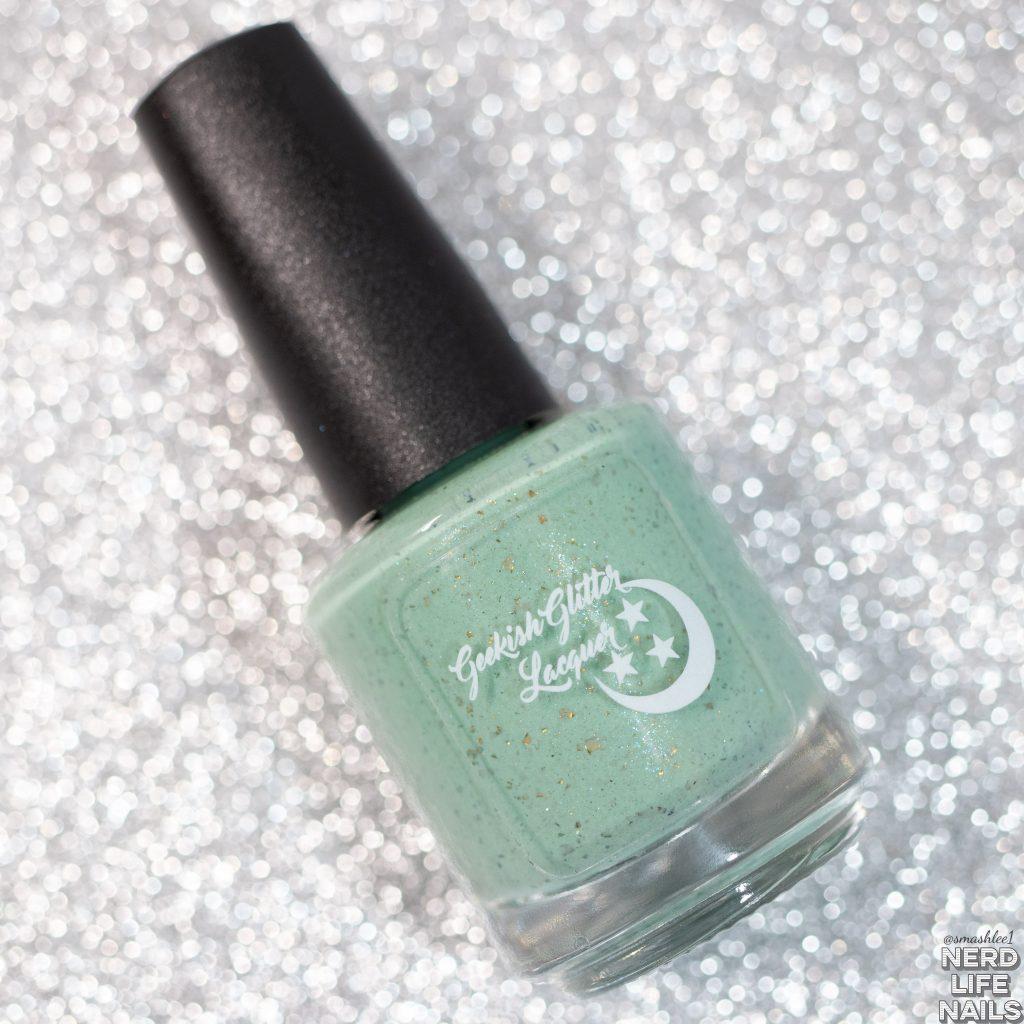 Geekish Glitter Lacquer - Muchness Mint Bottle