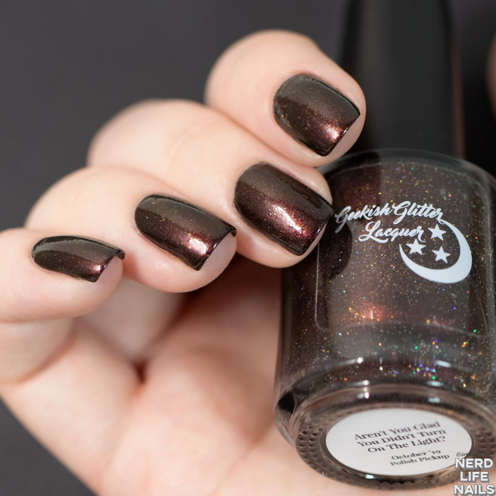 Geekish Glitter Lacquer - Aren't You Glad You Didn't Turn On The Light?