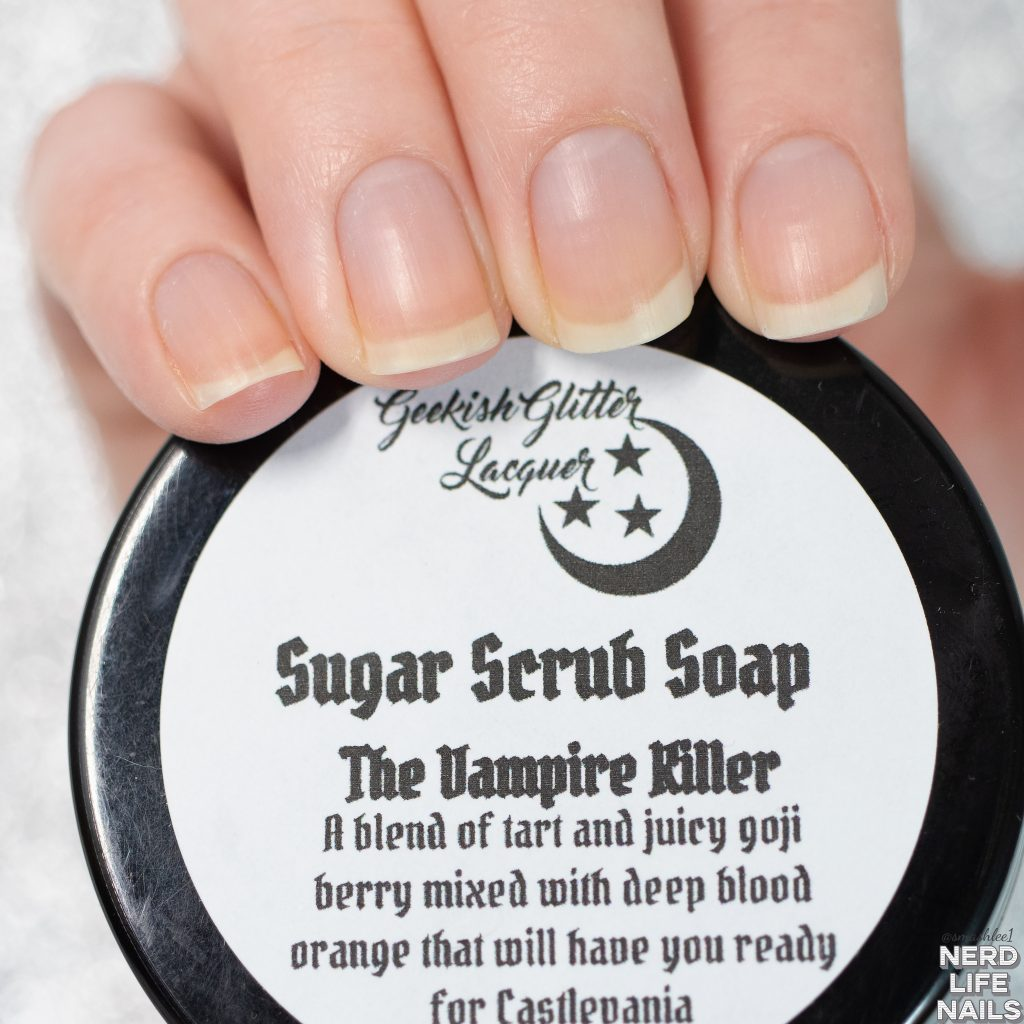 Geekish Glitter Lacquer - The Vampire Killer Sugar Scrub Soap