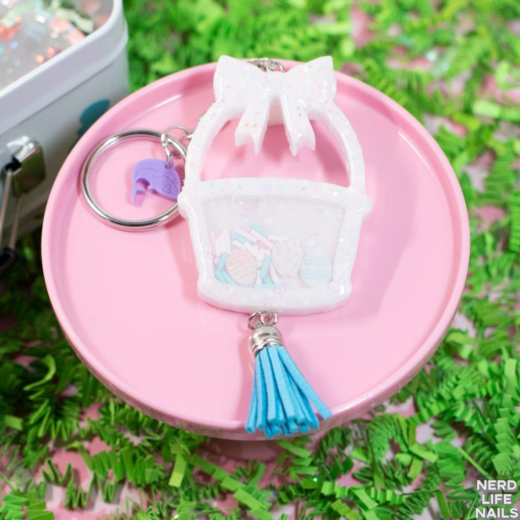 Sassy Shark Charms - Resin Easter Basket Keychain