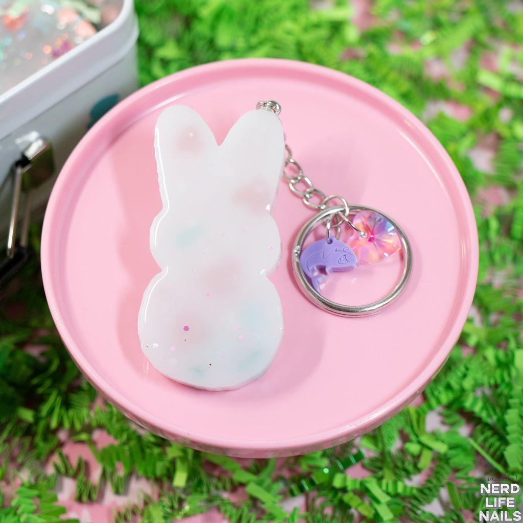 Sassy Shark Charms - Resin Peeps Bunny Keychain