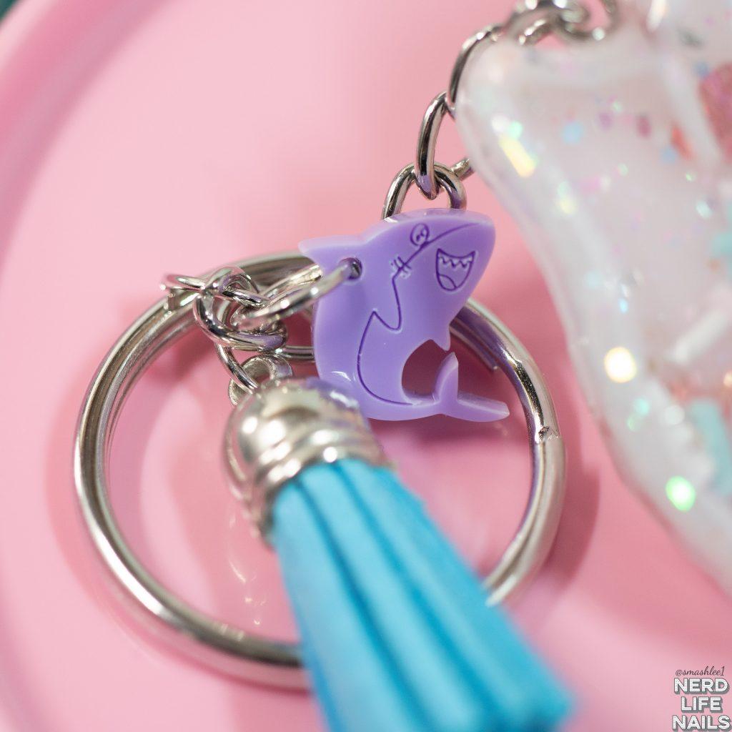 Sassy Shark Charms Logo Keychain charm