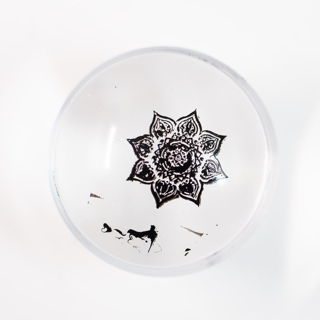 Clear Jelly Stamper Black 1.5