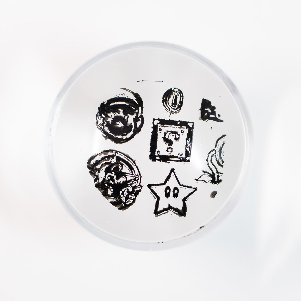 Clear Jelly Stamper Black 2.5