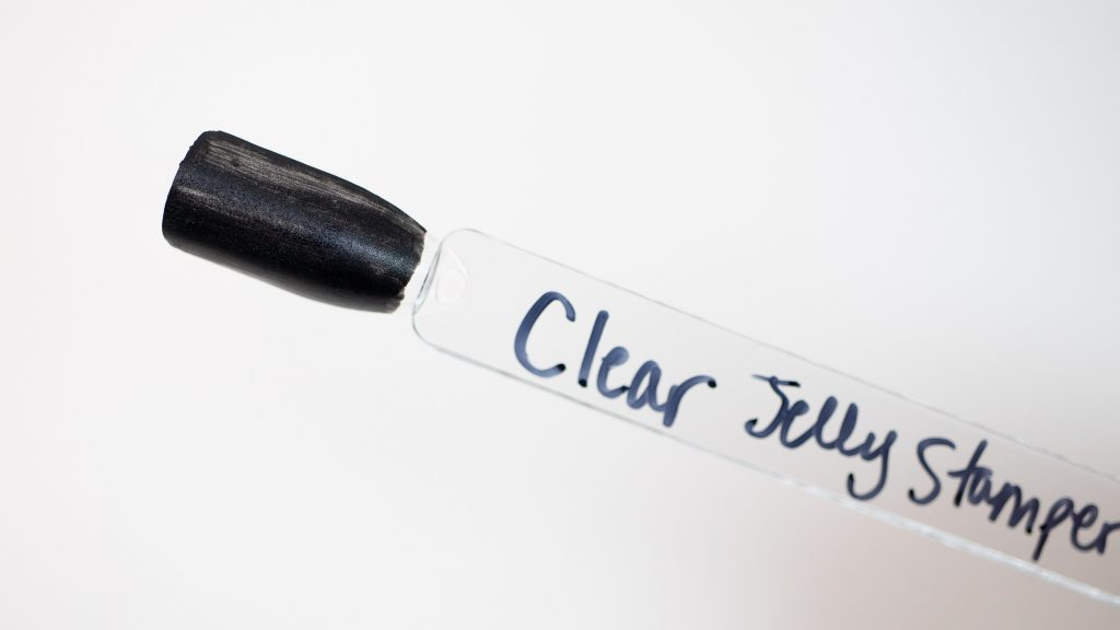 Clear Jelly Stamper Swatch - Black