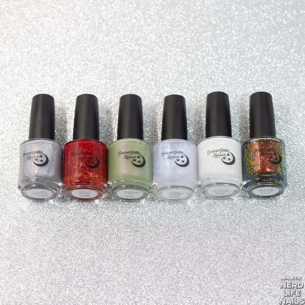 Geekish Glitter Lacquer - The Prequels Collection