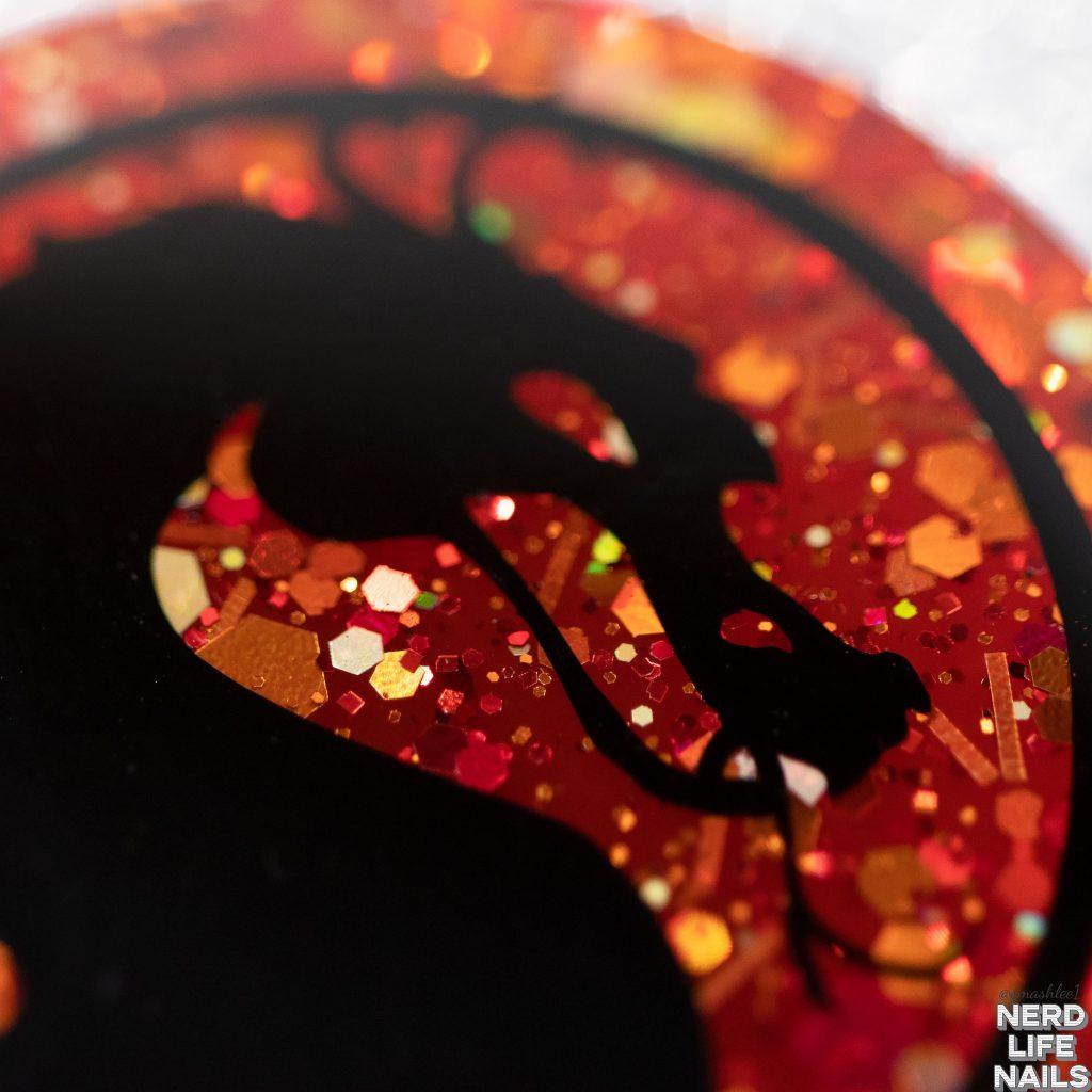 Sassy Shark Charms - Mortal Kombat Logo Keychain or Magnet