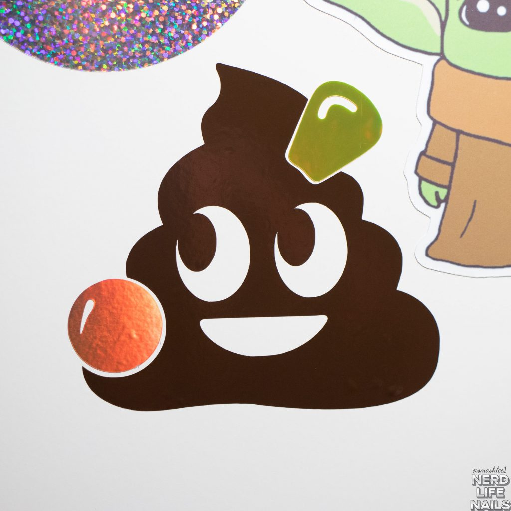 All Mixed Up Lacquers - Poop Vinyl Sticker