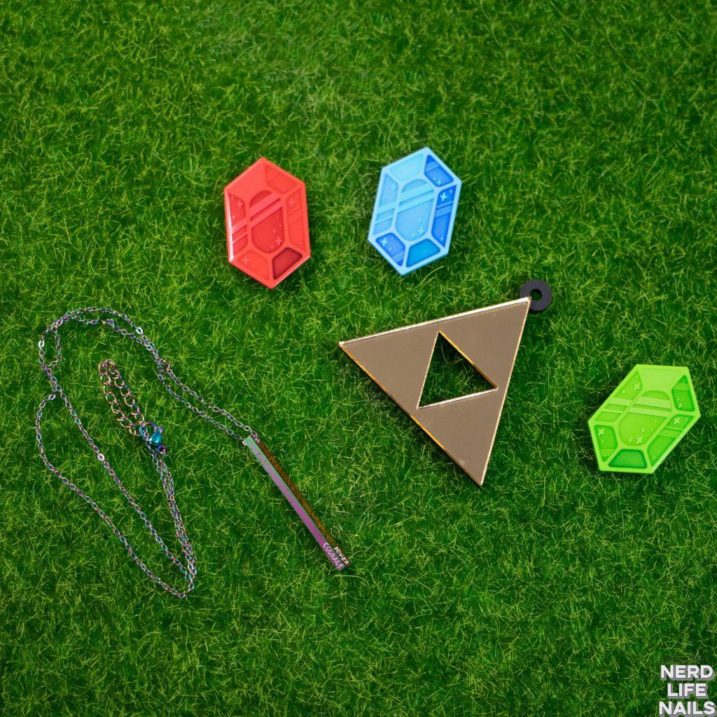 Profound Sass - Rainbow Triforce Pendant Necklace
