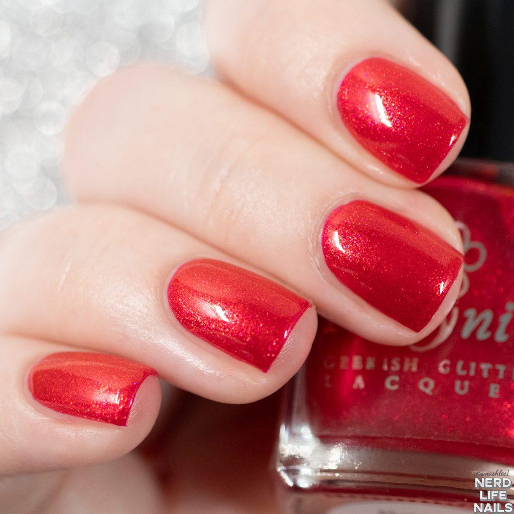 Geekish Glitter Lacquer - Ravy Red