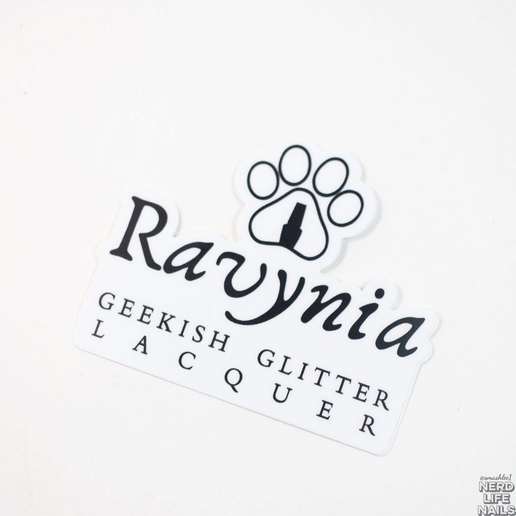 Geekish Glitter Lacquer & Ravynia Sticker