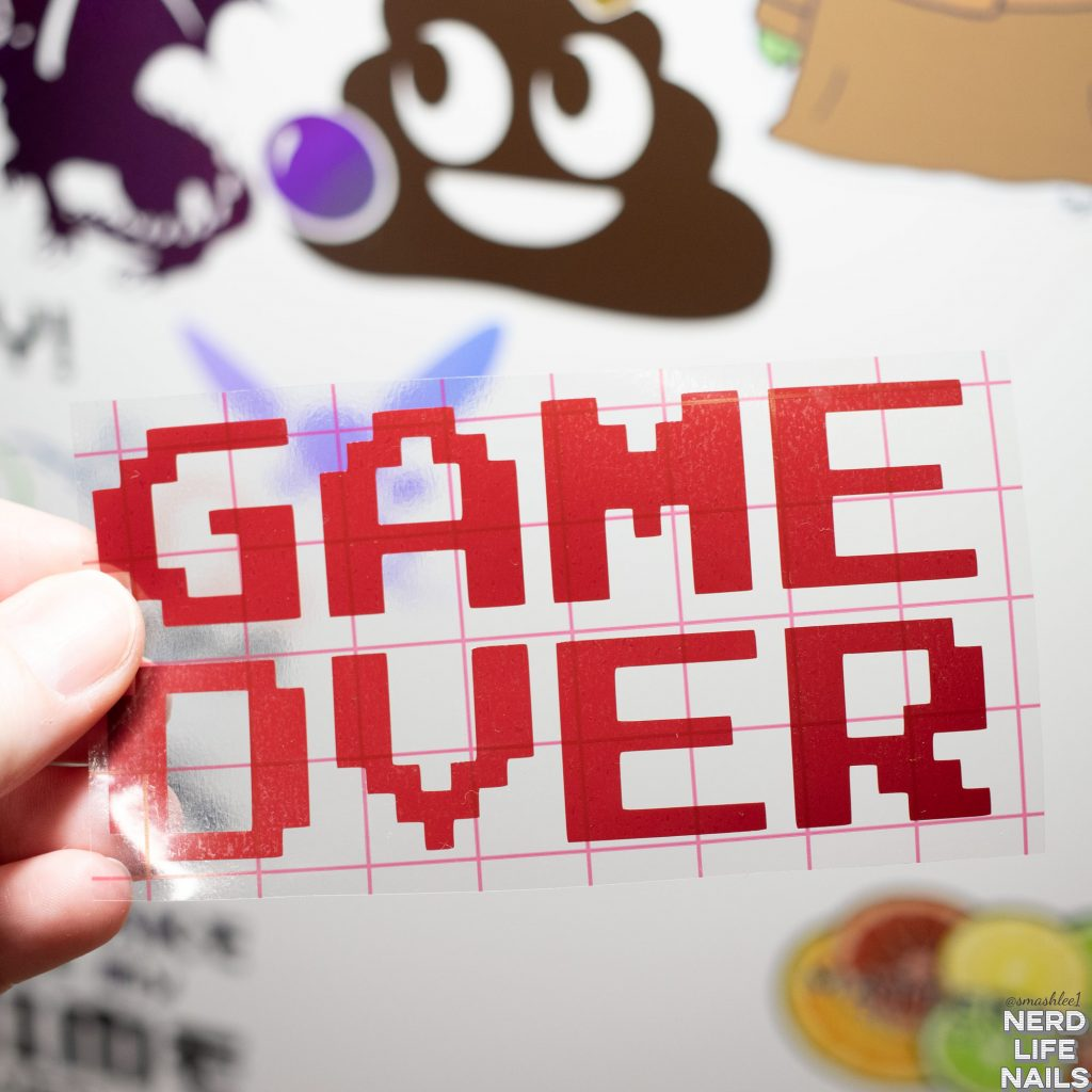 All Mixed Up Lacquers - Game Over Vinyl Sticker