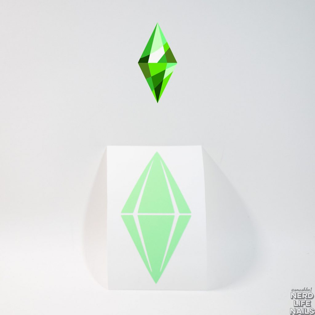 All Mixed Up Lacquers - Sims Plumbob Vinyl Sticker