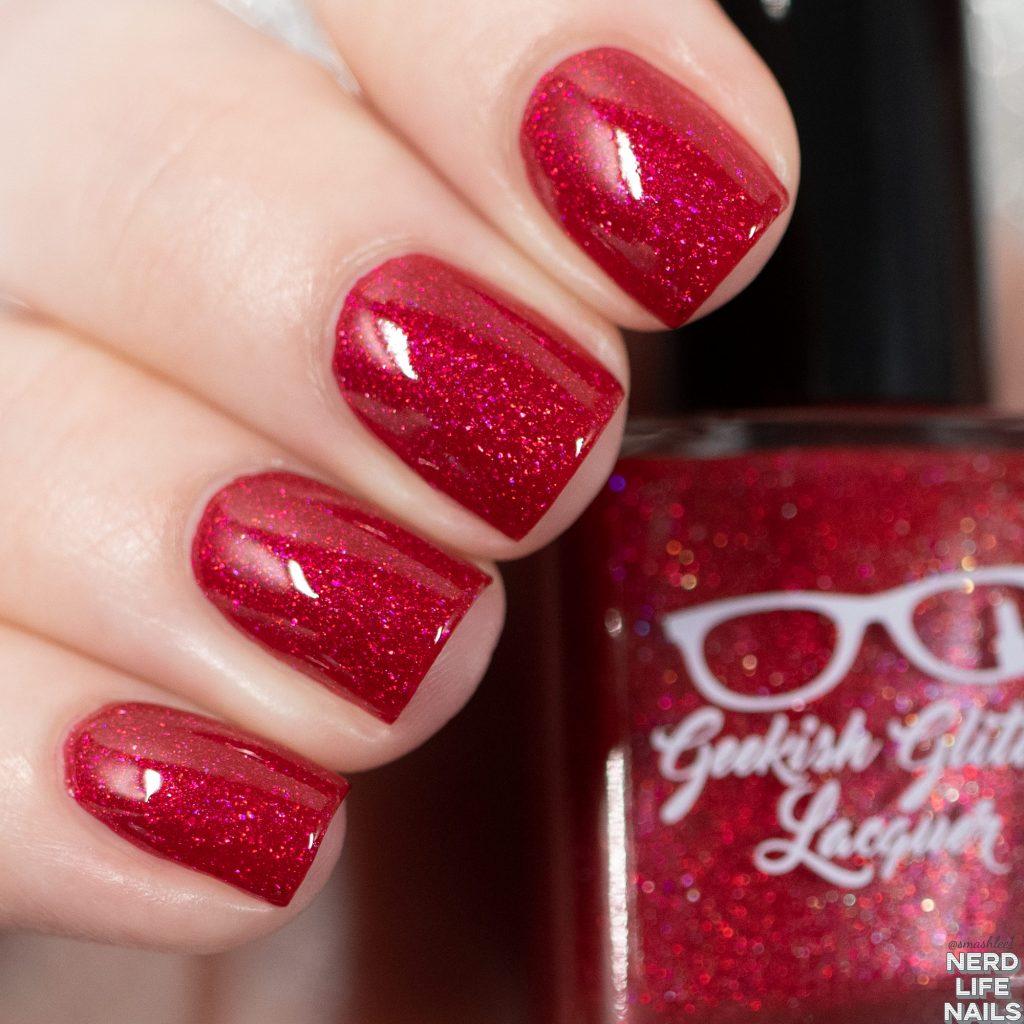 Geekish Glitter Lacquer - Cherry Limeade
